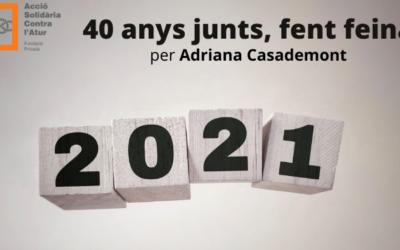 """40 anys junts, fent feina"", Adriana Casademont"
