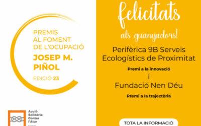 Ganadores de los Premios Josep M. Piñol para el Fomento de la Ocupación 2020